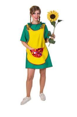 Karneval Damen Kostüm Schürzenkleid grüngelb (Grüne Kostüm Kleid)