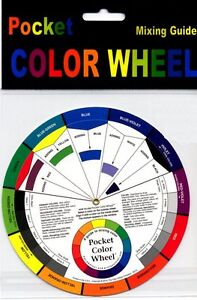 ARTIST-OIL-ACRYLIC-PAINT-MIXING-GUIDE-POCKET-COLOUR-WHEEL-PAINTING-ART-smll