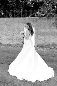 Mia mia gorgeous ivory wedding dress (not dry cleaned)