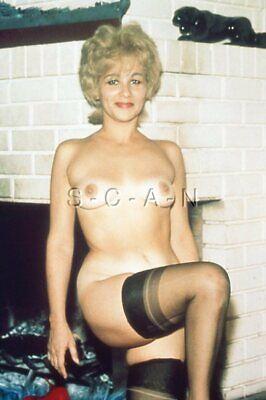 Vintage Nude 1950s-60s 35mm Slide / Negative- Well Endowed Blond- Tan Lines- #3