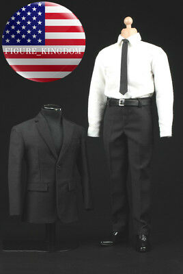 """1//6 Scale Men Dress Shoes For James Bond For 12/"""" Hot Toys Male Figure U.S.A."""