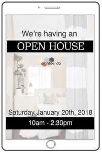 OPEN HOUSE SAT JAN. 20th 10-2:30- STUDENT ROOMS AVAILABLE NOW!