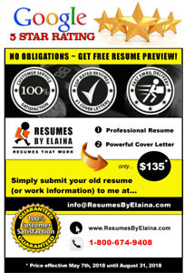 ☀ Professional Resume Writing Service: 100% Client Satisfaction!