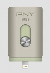 PNY 16GB DUO-LINK On-the-Go USB Flash Drive for iPhone and iPad