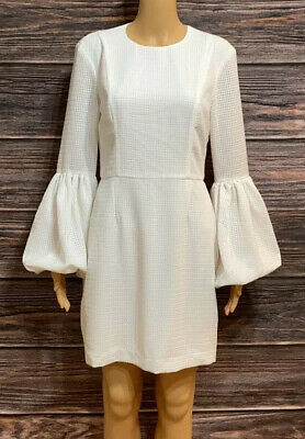 rebecca vallance Long balloon sleeve open back white dress Size 6
