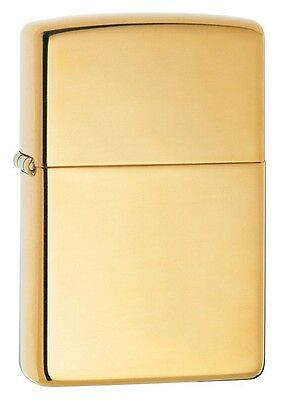 Zippo Armor High Polished Brass Lighter,  Item 169, New In Box