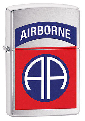 Zippo 29181, US Army 82nd Airborne,  Brushed Chrome Lighter