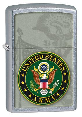 Zippo Windproof Street Chrome Lighter With U.S. Army Seal, 28632 BNWT