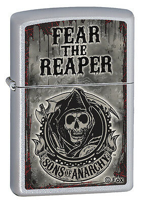 Zippo Fear The Reaper Satin  Sons Of Anarchy Lighter  28502  New In Box