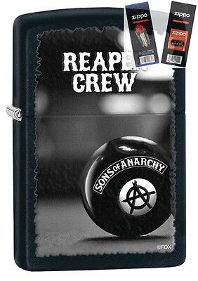 Zippo 28677 Sons Of Anarchy Reaper Lighter With  Flint   Wick Gift Set