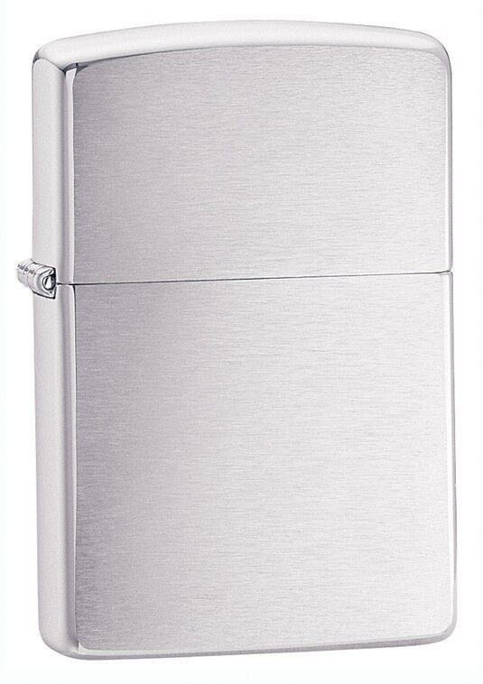 Zippo Brushed Chrome Windproof Lighter 200, New In Box