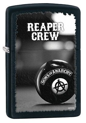 Zippo 28677 Sons Of Anarchy Reaper Crew Black Matte Full Size Lighter