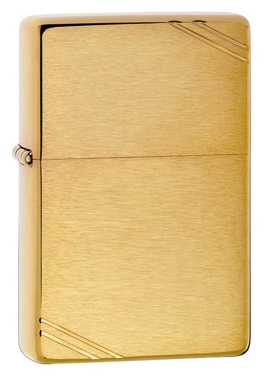 Zippo Vintage Brushed Brass, 1937 Replica Lighter,  240, New