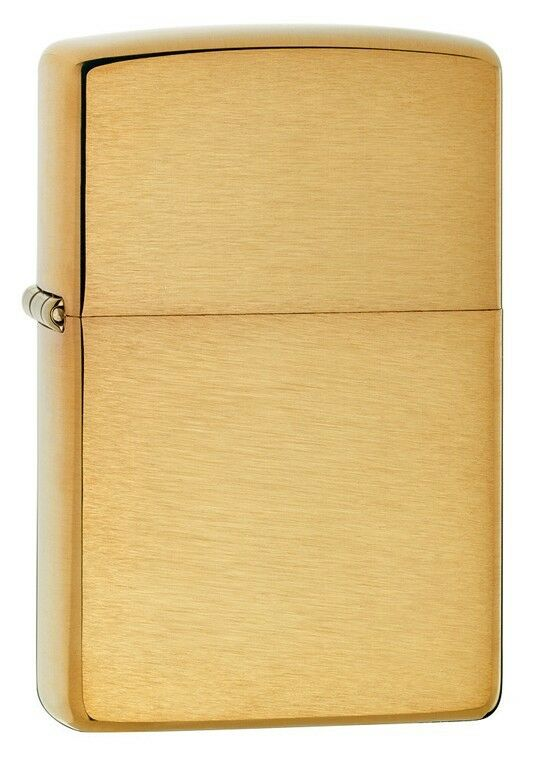 Zippo Windproof Brushed Brass Lighter,  204B, New In Box