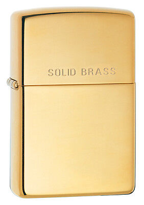 High Polished - Zippo Windproof High Polished Brass Lighter With SOLID BRASS, 254, New In Box