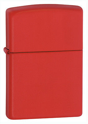 Zippo Windproof Red Matte Lighter, 233, New In Box