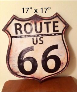 "⭐️NEUF Affiche ROUTE 66 17""x17"""