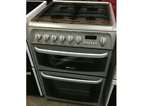 Grey Cannon dual fuel cooker , 60cm wide, can deliver