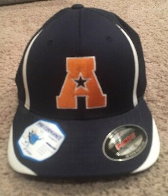 NEW FLEXFIT MENS FITTED LETTER A BASEBALL HAT L XL NAVY FLEX FIT 0cac773bd556