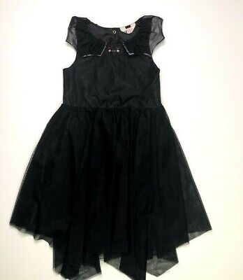 H&M Girls Black Bat Tulle Dress 7 8 Costume Halloween