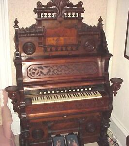 GORGEOUS, RECONDITIONED, 1870, WEAVER PUMP ORGAN