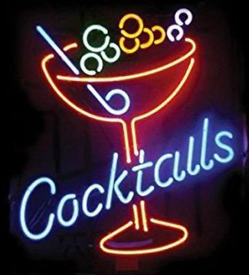 New Cocktails Martini Cup Beer Bar Light Lamp Neon Sign 24