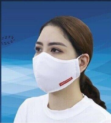 Mundschutz Maske Atemschutz Nano Antimikrobiell 3-Lagig Waschbar 2 Stück 94%
