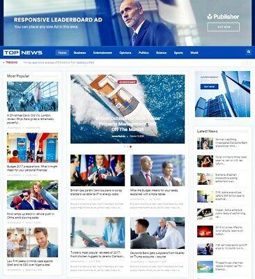 Fully Wordpress News Website - 100 Free Hosting