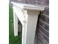 Beautiful Shabby Chic Wood Fire Surround Fireplace - Delivery Available