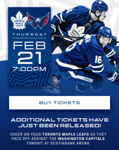 Toronto Maple Leafs vs Washington Capitals Tickets (Feb 21st 19 ... 310aa68a028