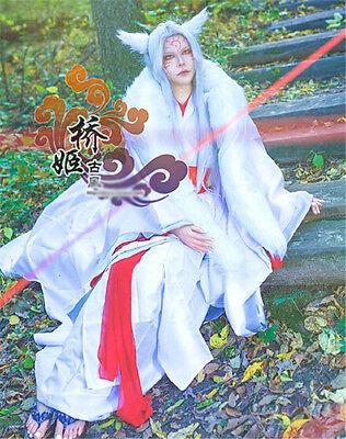 Sensei Kostüm (Natsume Yujin Cho Nyanko-sensei Cosplay Chinese Ancient Costume Red White Kimono)