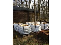 Split hardwood firewood Oak, Ash and Sycamore in vented bulk bags
