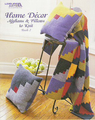 HOME DECOR AFGHANS & PILLOWS TO KNIT ~ BOOK 2 ~ SALE