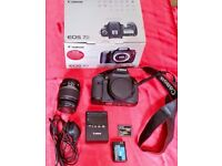 Boxed Mint Condition Canon 7D And 18-55mm Lens, Very Low Shutter Count!!