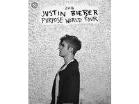 3 x Justin Beiber Tickets Mon 17th Oct Barclaycard Arena