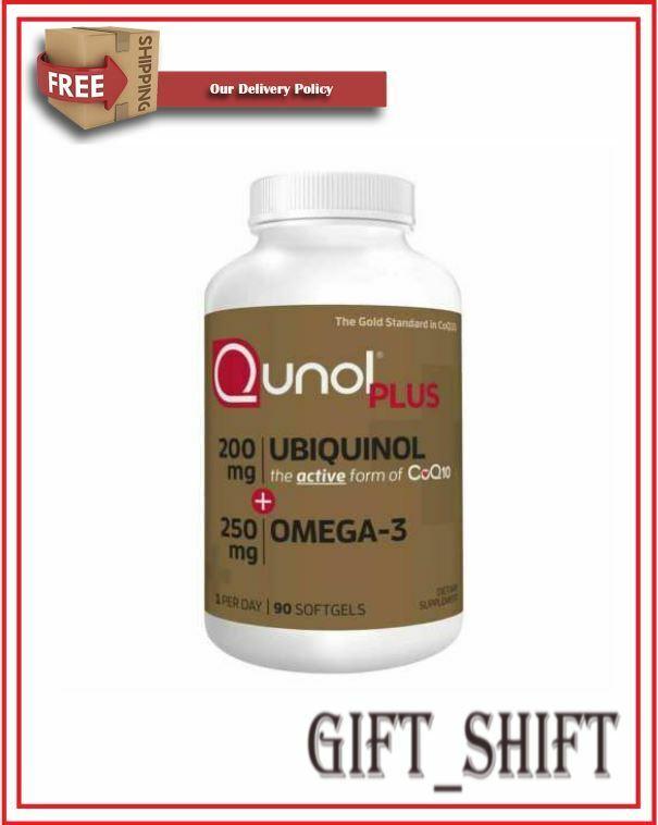 Qunol Ubiquinol + Omega 3 Plus CoQ10 200mg, Extra Strength U