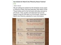 Two weekend tickets for March into Pitlochry music event