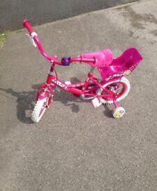 "Child's Molly Raleigh Bike 12"" & Bratz Cycle Helmet"