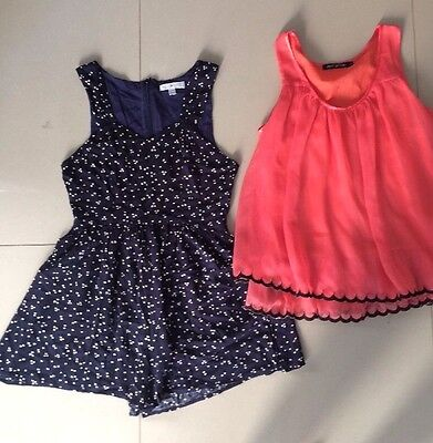 Myer brand quirky circus Playsuit & ESQ TOP Size 8  Myers Overall