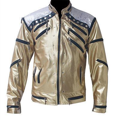 Michael Jackson Clothing Style (RARE MICHAEL JACKSON MJ Golden Beat It Jacket Punk Motorcycle)