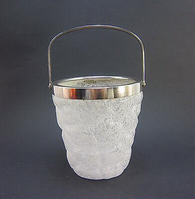Schaum Kühler (Kleiner WMF Eisbehälter Piccolo Sektkühler * Eiskübel * versilbert * Schaumglas)