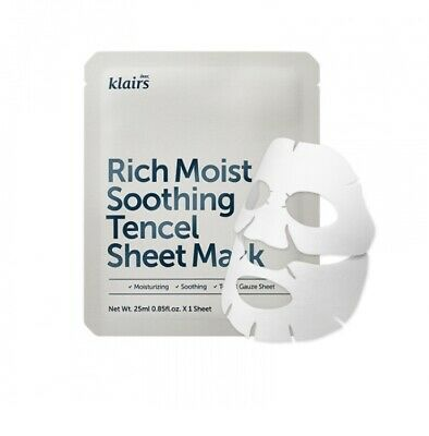 *UK SELLER* KLAIRS Rich Moist Soothing Tencel Sheet Mask 25ml