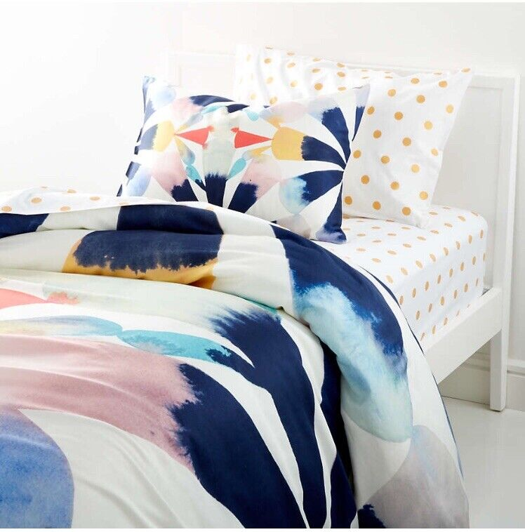 Crate and kids Painted Fan Twin Duvet Cover And Standard Sham (66*88 Inch)