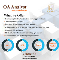 SOFTWARE QA ANALYST TRAINING WITH PLACEMENT ASSISTANCE