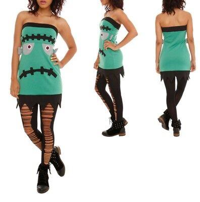 Frankenstein Tube Dress Hot Topic Sz Small Halloween Super Cute - Cute Halloween Dresses