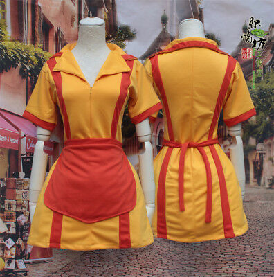 TV Show Two 2 Broke Girls Max and Caroline Diner Waitress Dress Cosplay Costume