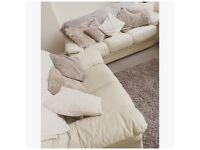 Cream leather 3 piece suite £250