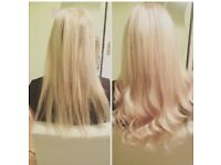 Pre bonded real Russian hair extensions from £70!!