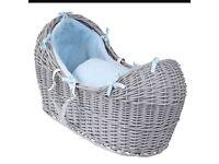 Grey Clair De Lune Noah Pod Moses Basket
