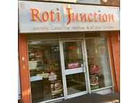 Roti Junction. Catering and Takeaway Business, Coventry.